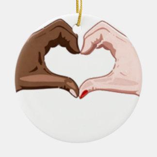Stop Racism Ceramic Ornament