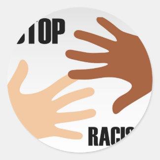 Stop racism classic round sticker