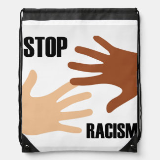 Stop Racism Drawstring Backpack