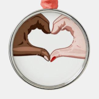 Stop Racism Metal Ornament