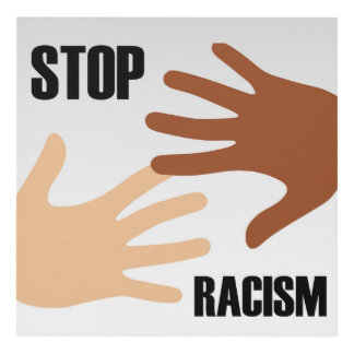 Stop Racism Panel Wall Art