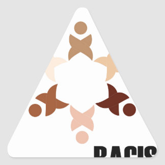 Stop Racism Triangle Sticker