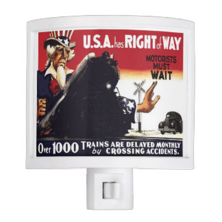 Stop Railroad Crossing Accidents Night Light