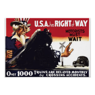 Stop Railroad Crossing Accidents Poster