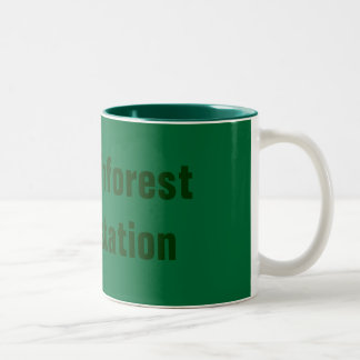 Stop Rainforest Deforestation Two-Tone Coffee Mug