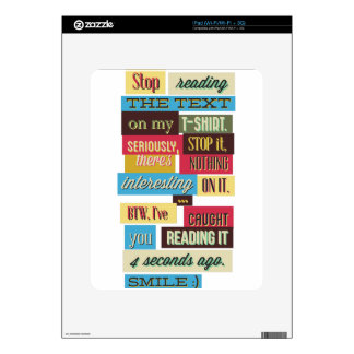 stop reading the texts, cool fresh design skins for the iPad