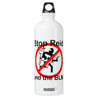 Stop Reid and the BLM Aluminum Water Bottle