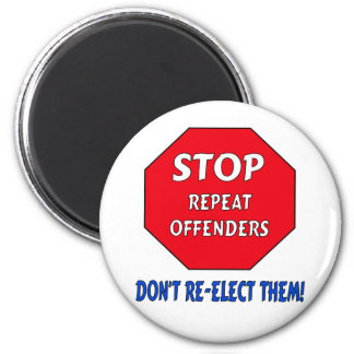 Stop Repeat Offenders 2 Inch Round Magnet