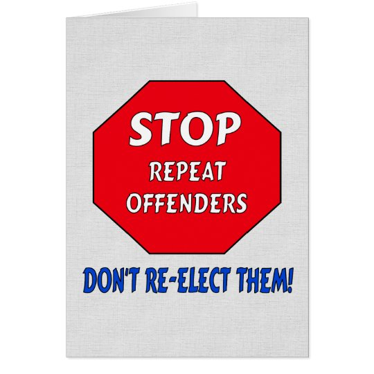 Stop Repeat Offenders Card