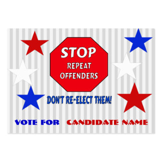 Stop Repeat Offenders Large Business Card