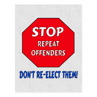 Stop Repeat Offenders Postcard