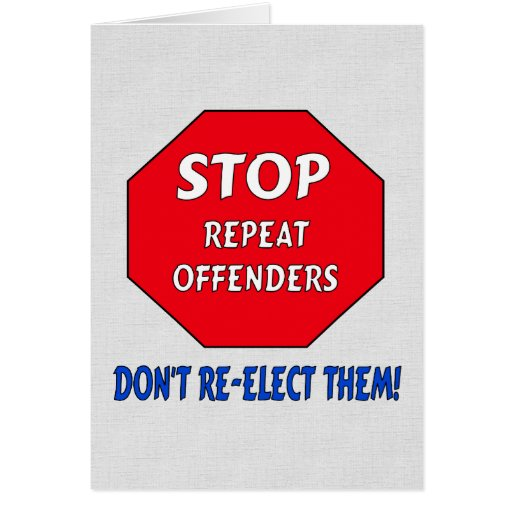 Stop Repeat Offenders Stationery Note Card