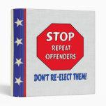 Stop Repeat Offenders Vinyl Binders
