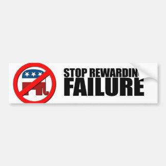 STOP REWARDING FAILURE BUMPER STICKER