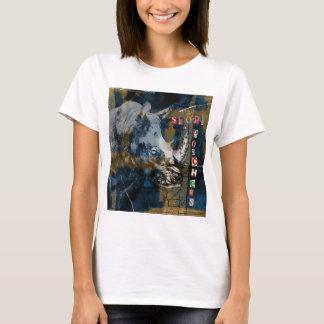 Stop Rhino Poachers Wildlife Conservation Art T-Shirt