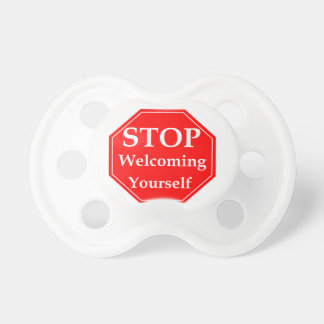 Stop Rudeness Pacifier