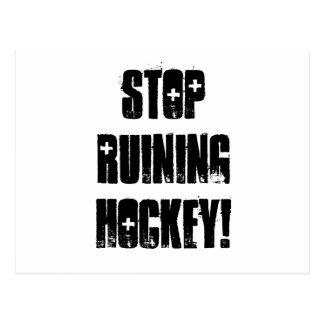 Stop Ruining Hockey, blank Postcard