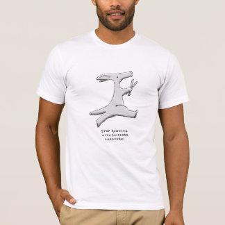 stop running with scissors, aardvark! T-Shirt