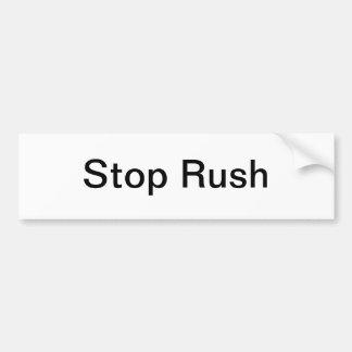 Stop Rush Bumper Sticker - Stop Rush Limbaugh Car Bumper Sticker