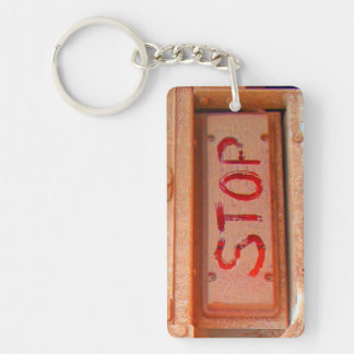 Stop rustic ute tailgate tail light keychain