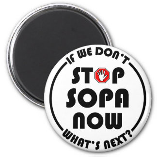 Stop S.O.P.A. Now Magnets
