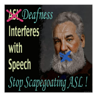"""Stop Scapegoating ASL !   24"""" x 24"""" Posters"""