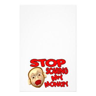 Stop Scaring My Monkey Stationery
