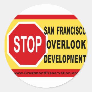 STOP SF Overlook Development Classic Round Sticker