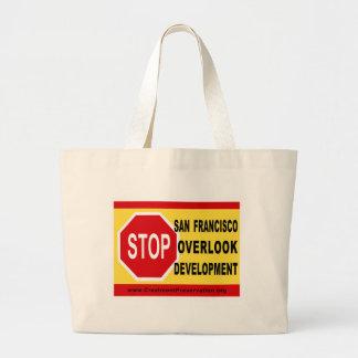 STOP SF Overlook Development Jumbo Tote Bag