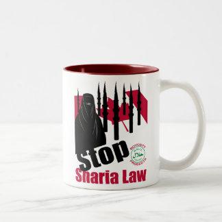STOP SHARIA Canada Two-Tone Coffee Mug