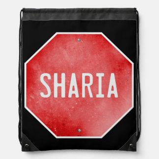 Stop Sharia Drawstring Backpack