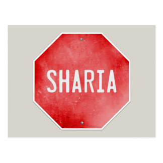 Stop Sharia Postcard