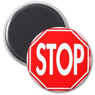 Stop Sign 2 Inch Round Magnet