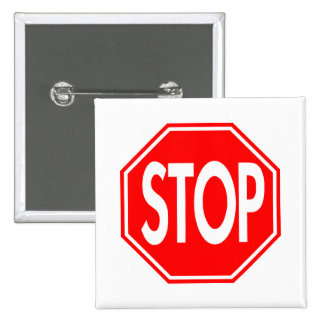 Stop Sign 2 Inch Square Button