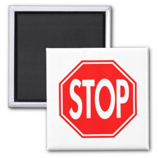 Stop Sign 2 Inch Square Magnet