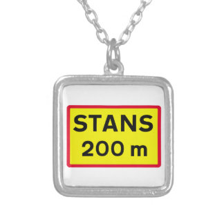Stop Sign Ahead, Traffic Sign, Iceland Custom Jewelry