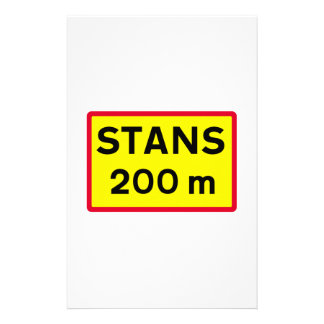 Stop Sign Ahead, Traffic Sign, Iceland Stationery