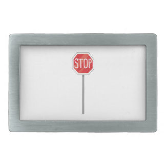 Stop Sign Rectangular Belt Buckle