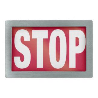 Stop Sign Rectangular Belt Buckles