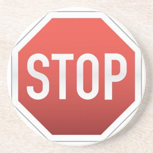 STOP sign Beverage Coasters