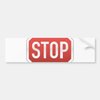 STOP sign Car Bumper Sticker