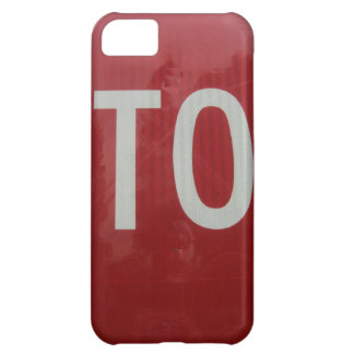 Stop Sign iPhone 5C Cases