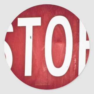 STOP sign Classic Round Sticker