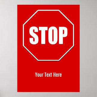 Stop Sign Custom 20 x 28 Poster