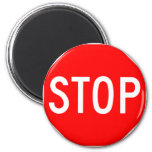 Stop Sign Customizable 2 Inch Round Magnet