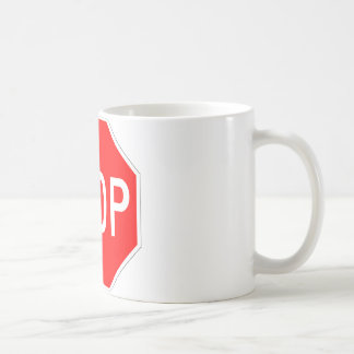 Stop Sign Customizable Coffee Mug