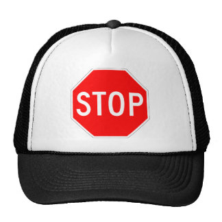 Stop Sign Customizable Hat