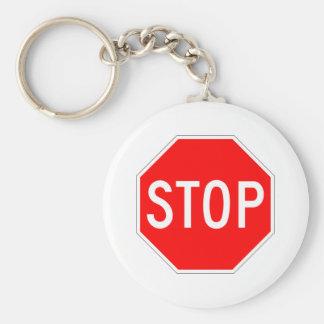 Stop Sign Customizable Keychain