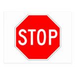 Stop Sign Customizable Postcard