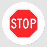 Stop Sign Customizable Sticker
